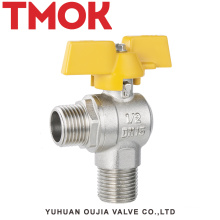 DN15 brass nickle plating sand polishing gas valve